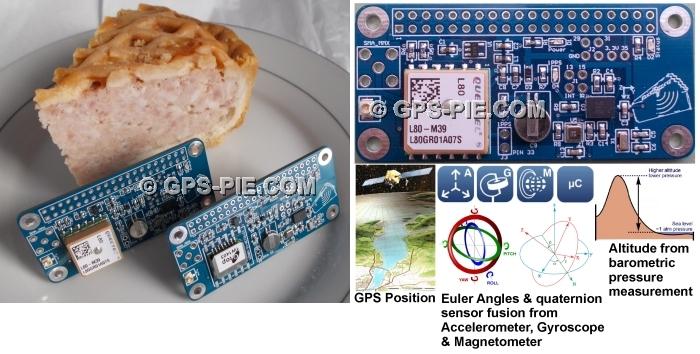 GPS-PIE COM - Raspberry Pi GPS Module Motion Sensing Boards